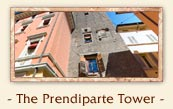 The Prendiparte Tower (Torre Prendiparte or Torre Coronata) - The two towers of Bologna Italy