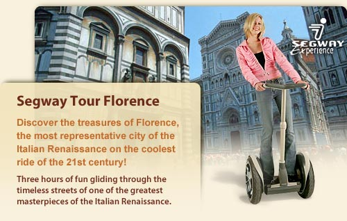 Segway Florence Tour: introducing you to the treasures of Florence on the coolest ride of the 21st century!