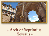 The Arch of Septimius Severus Rome Italy