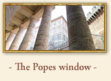 St. Peter, the Popes windows, Rome Italy