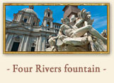 The Fountain of the Four Rivers, Rome Italy