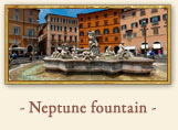 Fountain of Neptune in Piazza Navona, Rome Italy