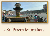 St. Peters Square - The fountains, Rome Italy