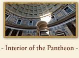 The interior of the Pantheon in Rome Italy