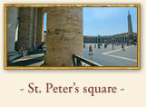 St. Peter Square, Rome Italy