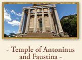 Temple of Antoninus and Faustina Rome Italy
