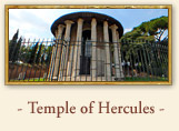 The temple of Hercules (Temple of Vesta) Rome italy