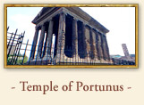 The temple of Portunus (Fortuna Virilis) Rome italy