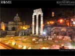 roman theatre ancient ostia desktop wallpaper
