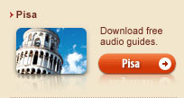 Free audio guides of Pisa