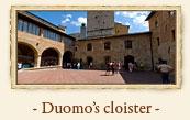 Duomo's Cloister (Collegiata), San Gimignano Italy