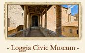 Palazzo del Podestà: Loggia Civic Museum, San Gimignano Italy