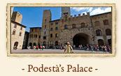 Podesta's Palace (Palazzo del Podestà) and People's Palace, San Gimignano Italy