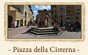 Piazza della Cisterna, San Gimignano Italy