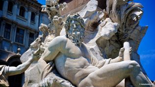 Piazza Navona: Fountain of the Four Rivers - Gange
