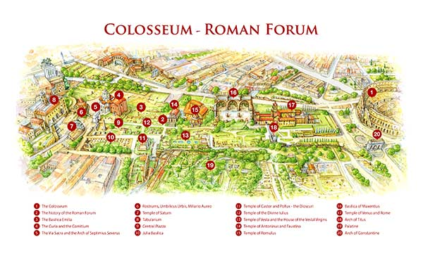 The Roman Forum Map - Interactive or PDF to download ...