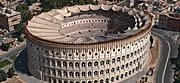 3D reconstruction of the Colosseum: Front view